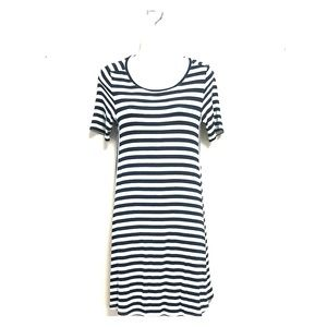 Ann Taylor Loft Striped Navy\White Tee Dress